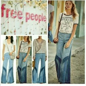 NWT Free People Tidal Wave Flares